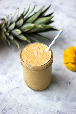 Post healthy cauliflower pineappple mango smoothie tone it up