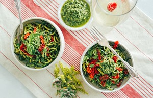 Post zucchini pasta healthy pesto tone it up 1